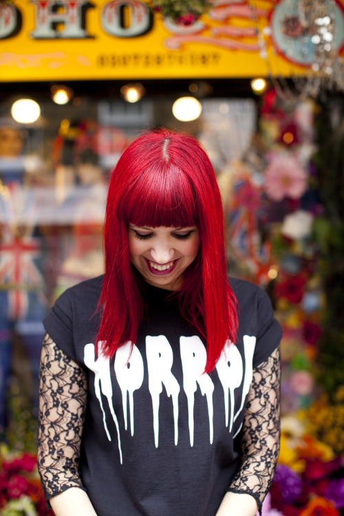 We'll be 'trick or treating' in this logo tee!