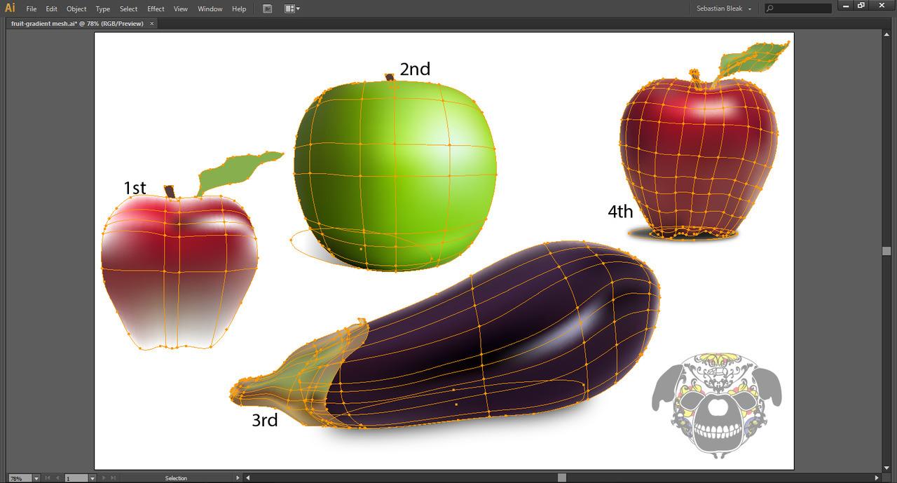 Adboe Illustrator Gradient Mesh tool