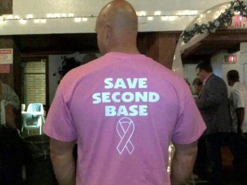 Male privilege is the sexualization of Breast Cancer awareness.