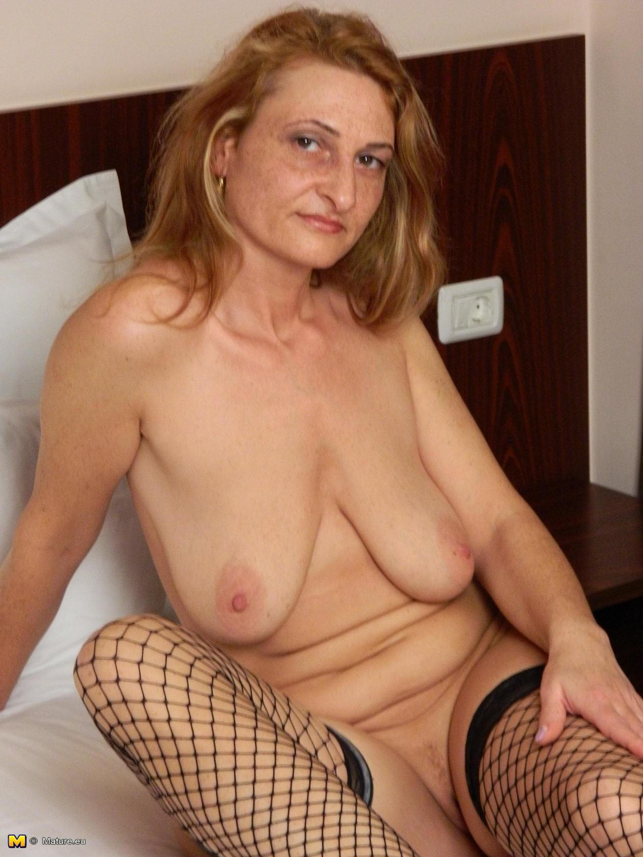 Huge saggy tits granny