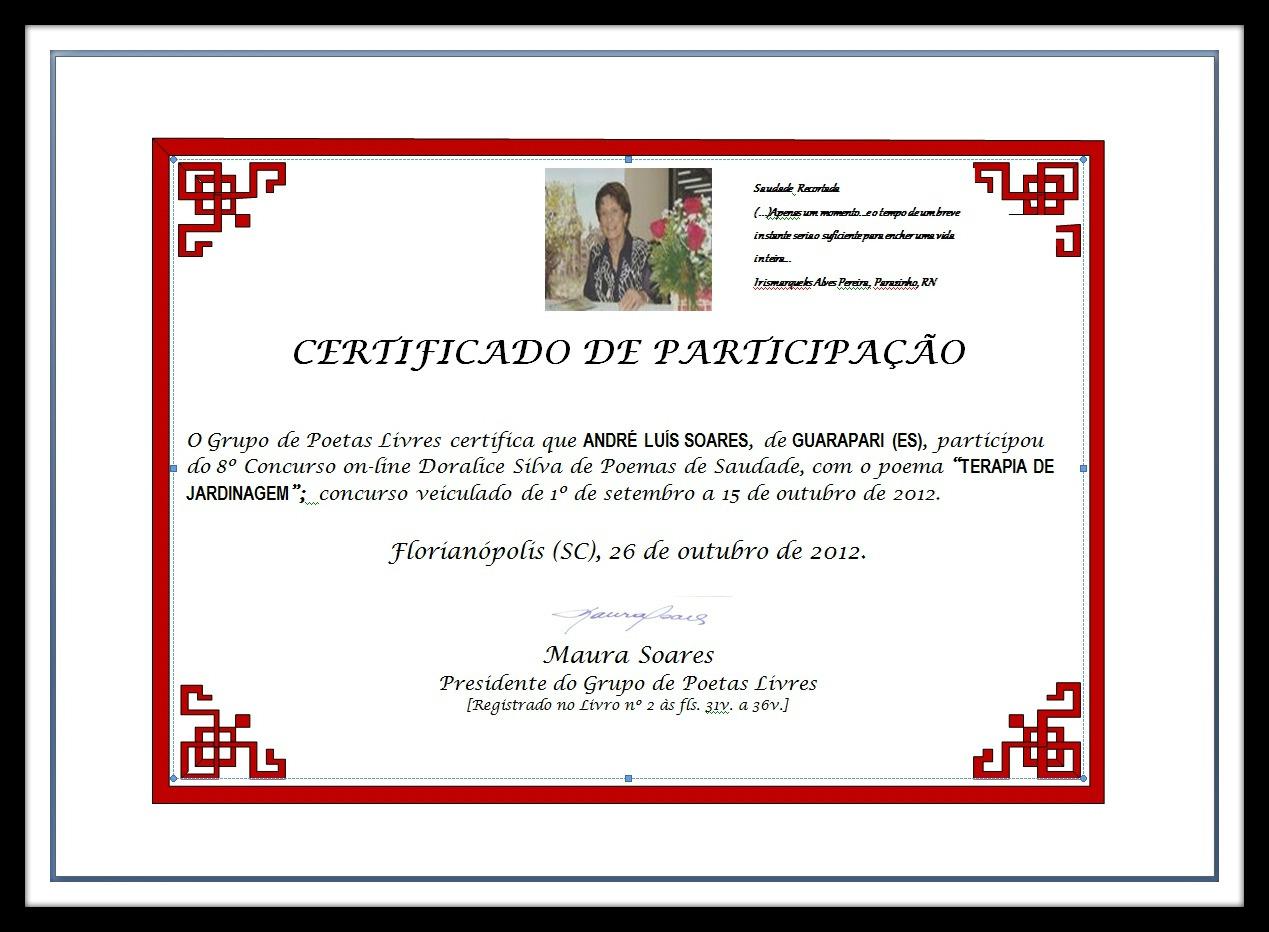 VIII Concurso Doralice Silva.