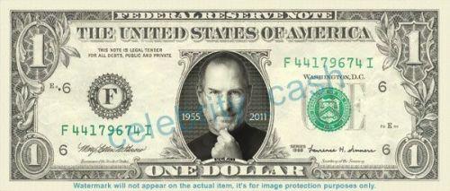 ティーブジョブズの1ドル札