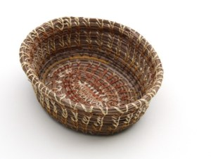 Coiled pine needle basket, with embroidery floss! Looks complicated, but it is really accessible for beginner basket-makers. I will be co-teaching a workshop on coiled basketry in january so look for updates!