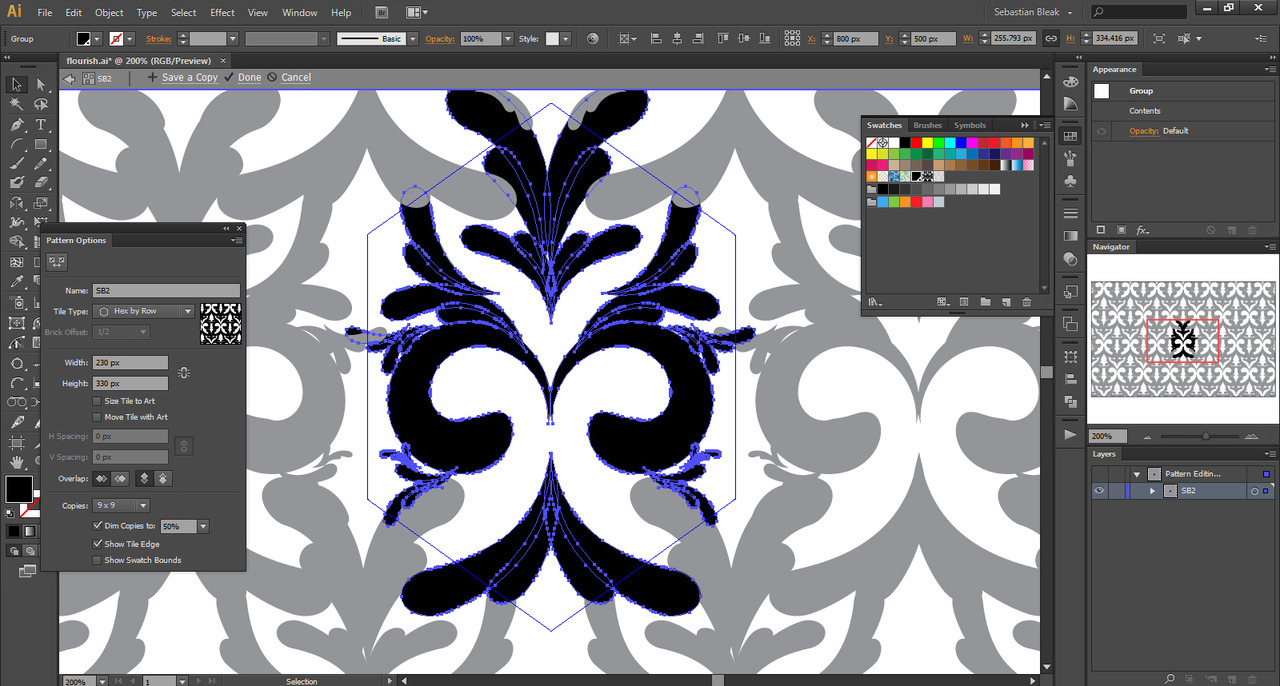 Custom background with design elements