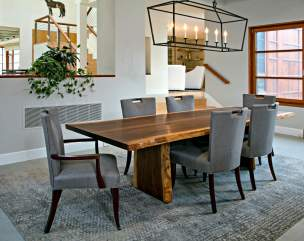 WALNUT TABLE AT HORSE FARM