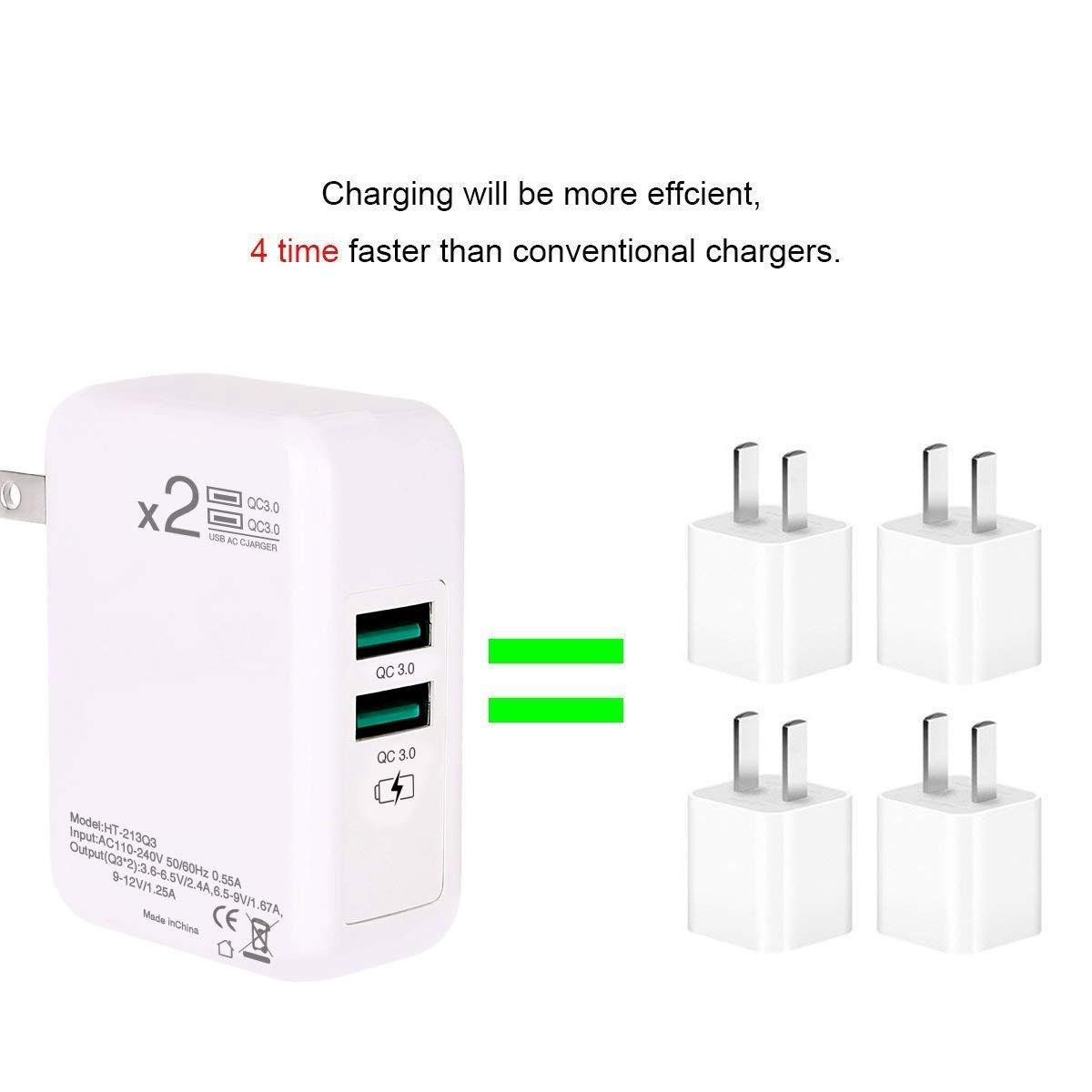 Dual Quick Charger 3 0 Usb Wall Charger Adapter Charging