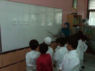Learning with Islamic Teacher, Ms. Yayah