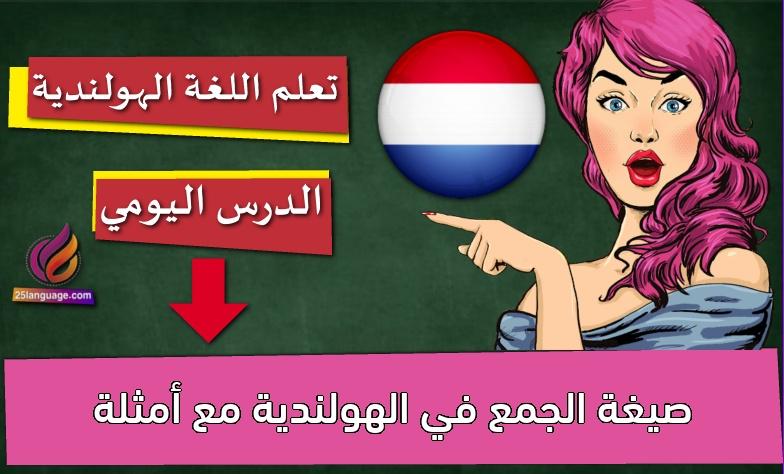صيغة الجمع في الهولندية مع أمثلة