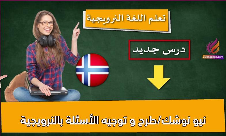 نيو نوشك/طرح و توجيه الأسئلة بالنرويجية