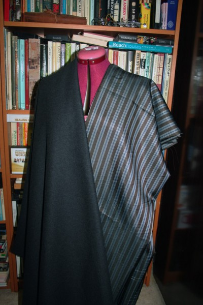 Charcoal Intenso 80% Wool 20% Cashmere with Fendi lining, both from Tessuti in Melbourne
