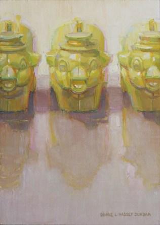 """Three Little Piggies"" - 7"" x 5"" Oil by Dianne Massey Dunbar"