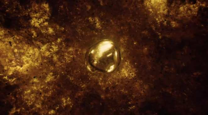 melted gold in the middle of the trinity blast fallout in Twin Peaks Part 8