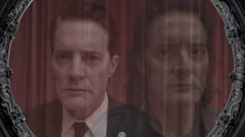 Agent Cooper and Mr C in a vision together