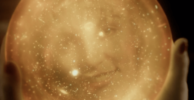 laura palmer's face in a golden orb