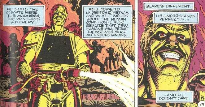 Comedian from Watchmen comic strip