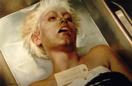 body of teresa banks on a morgue table
