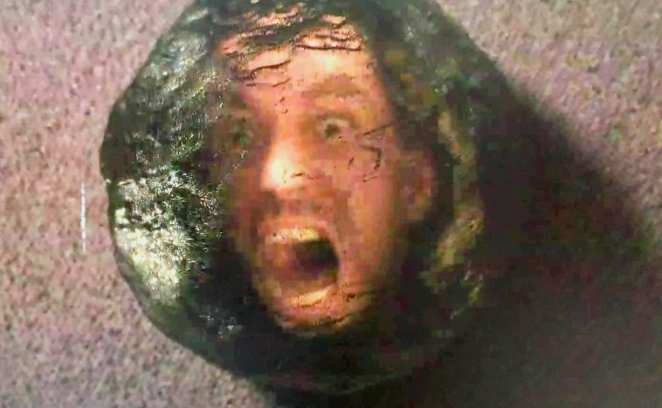 BOBs face appears in a black orb