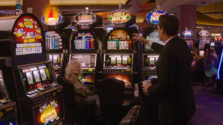 Dougie and Lady Jackpots at the Silver Mustang casino