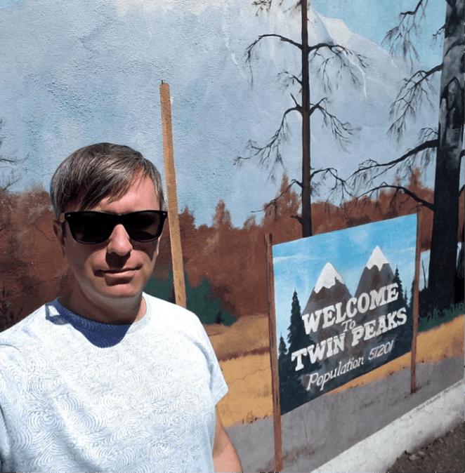 Ben Mural at the back of Twedes cafe