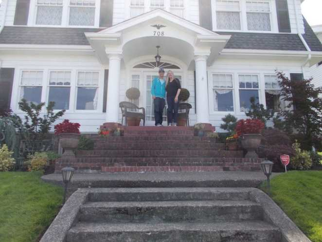 Ivan with Mary Reber at her home