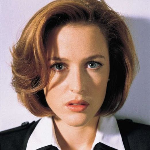 Dana Scully played by Gillian Anderson