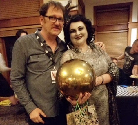 Jill Watson with John Pirruccello at the Twin peaks festival