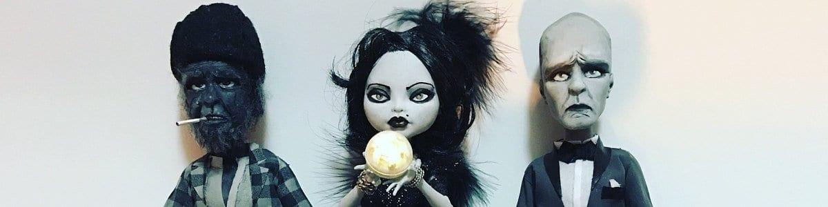 Mod Pie Twin Peaks dolls - Woodsman, Senorita Dido, and The Fireman