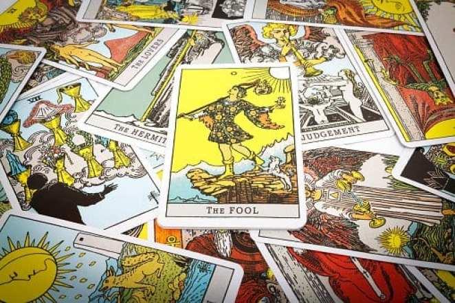 stock image of tarot cards