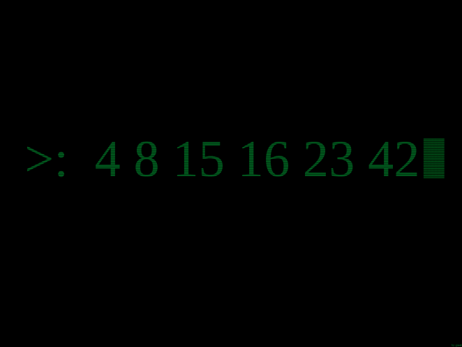 the numbers in Lost