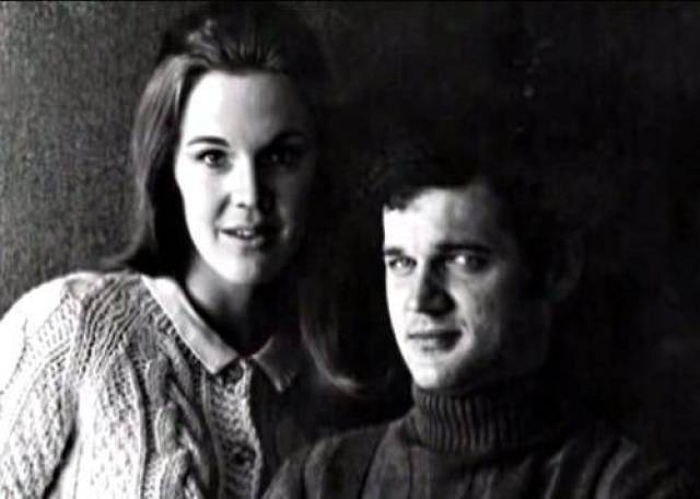 Catherine Coulson and Jack Nance