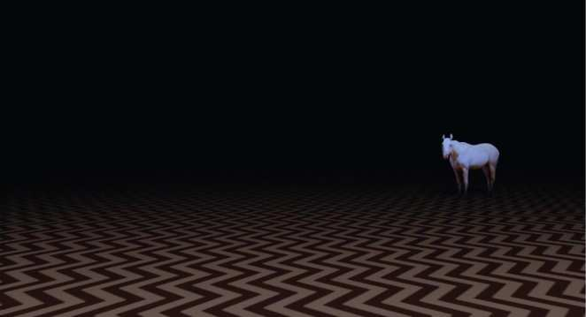 a white horse in the black lodge