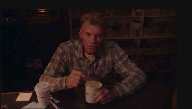 Big Ed eats soup alone