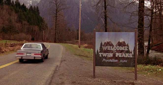 Welcome to Twin Peaks road sign