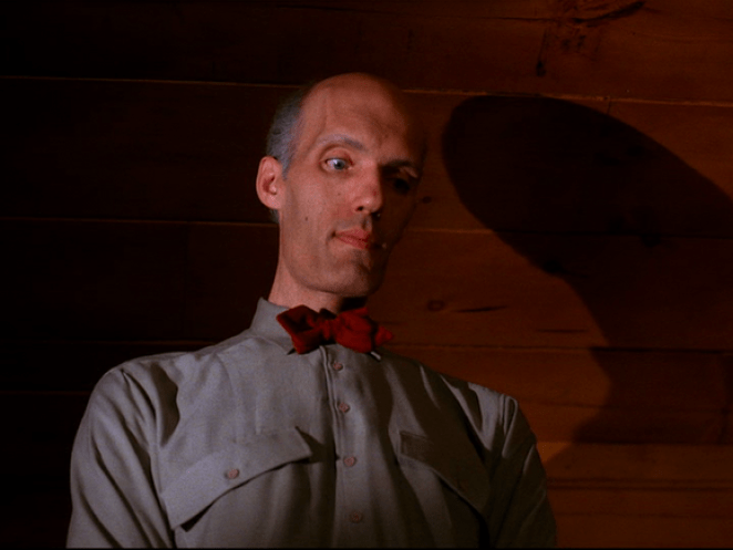 The Giant looks down on Cooper in Twin Peaks