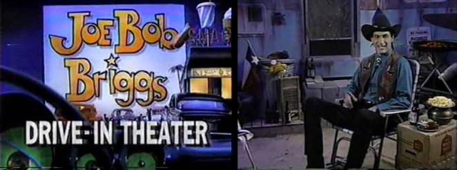 Joe Bob Briggs on set for his Drive In Theater