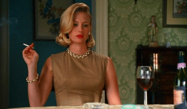 Betty Draper played by January Jones in Mad Men