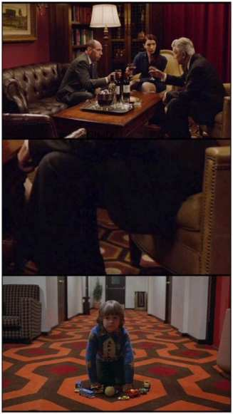 The Blue rose task force room has similar carpet to the overlook hotel in the shining