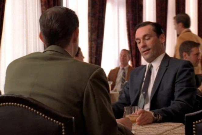 Don  Draper at an interview