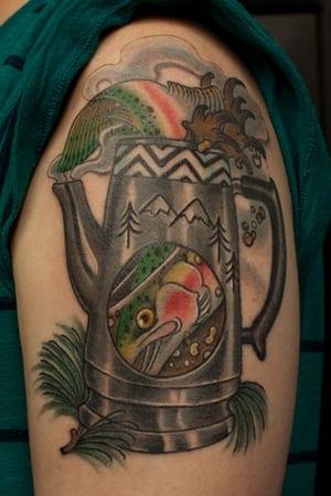fish in the percolator tattoo
