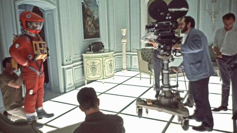 Stanley Kubrick directs one of the film's most famous sequences.