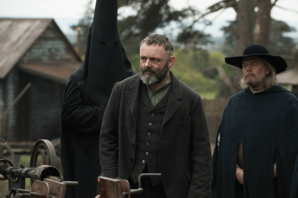 Michael Sheen as Prophet Malcolm in the Netflix Horror, Apostle