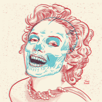 A 3-D image of Marilyn Monroe