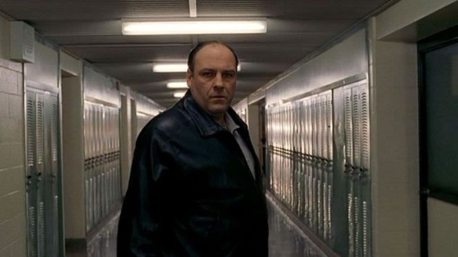 "Tony Soprano in ""The Test Dream""."