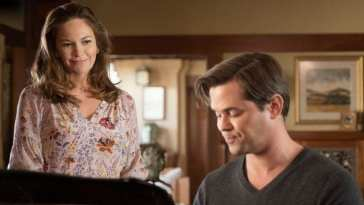 "Katherine Ford (Diane Lane) and David Patton (Andrew Rannells) in The Romanoffs ""Bright and High Cirlce"""