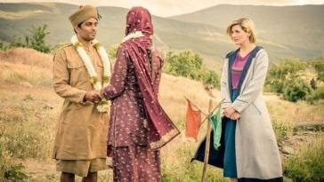 The Thirteenth Doctor blesses a marriage.