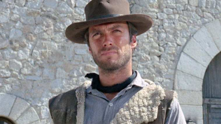 """Clint Eastwood as the """"Man with No Name"""" in A Fistful of Dollars"""