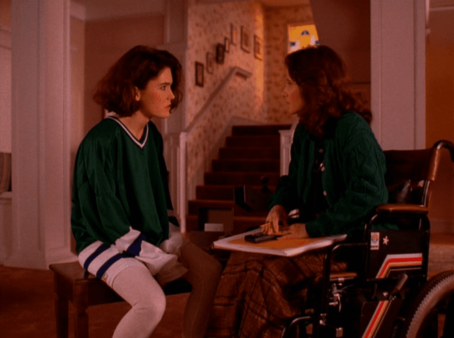 Donna and Eileen Hayward have a heart to heart