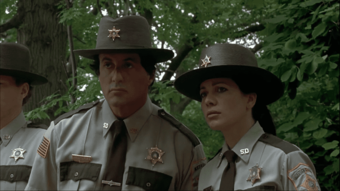 Sylvester Stallone and Janeane Garofalo in Cop Land