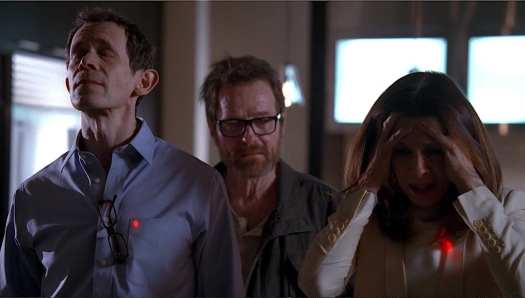 "Walter White threatens Gretchen and Elliott Schwartz in the Breaking Bad series finale ""Felina"""