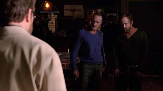 "Walter White, Jesse Pinkman, and Jack Welker in the Breaking Bad series finale ""Felina"""